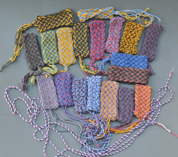 Various hand-tied TH bracelets