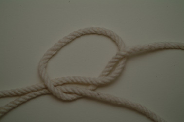A bend, using two-strand Matthew Walker knots.