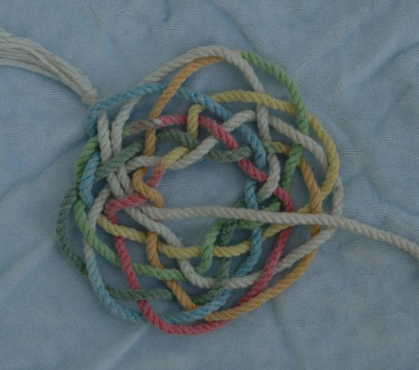 Flattened out final knot